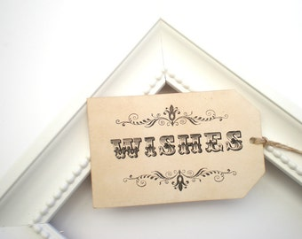 Vintage Wedding Wish Tags, Wishing Tags Set Of 100