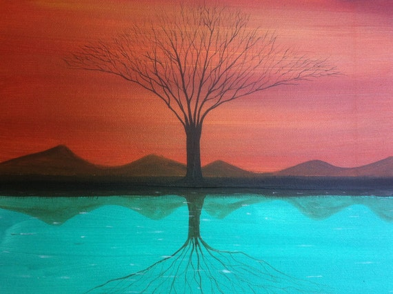A Reflection In Time - 11 x 14, acrylic on canvas, ready to hang, by Michael H. Prosper