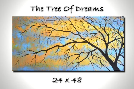The Tree of Dreams - 48 x 24, acrylic on canvas, ready to hang, by Michael H. Prosper