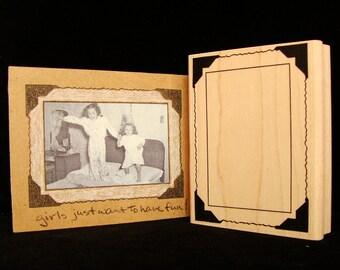 vintage photo corner frame