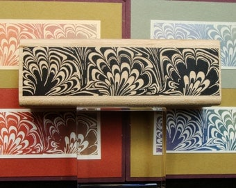 marbled design border