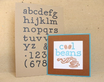 alphabet no.2 (medium)  unmounted rubber stamp
