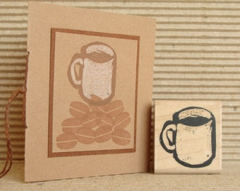 coffee mug rubber stamp  (small)