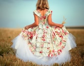 Flower Girls Dress, Easter, Layaway Plan A 60 day 3 payments. Formal Little Girls Dress In Ruffles, 4t - 8