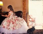 Girls Tulle Petticoat Flower Girl Train, formal occasion, girls sizes 18 months - 3t