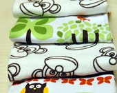 Baby Boy Burp Cloths (Set of 4) Jungle and Monkeys