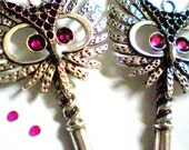 Key to my Owl Earrings and Necklace Set - 12 colors to choose from - on SALE was 22