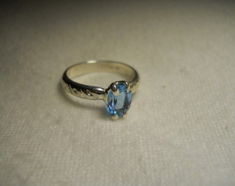 Swiss Blue Topaz Gemstone Ring