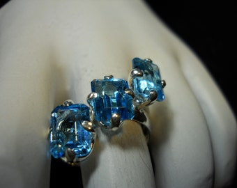 Blue Zircon Gemstone Ring