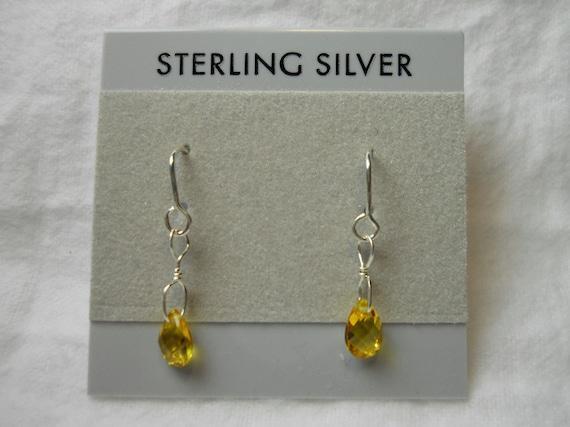 Yellow Sapphire Gemstone Earring