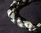 Geometric bracelet with black lace