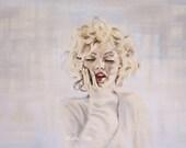 Classic Marilyn Monroe Print - 12x18 inch - Ecstasy