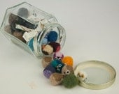 35 Tiny Pocket Owls in a Glass Jar