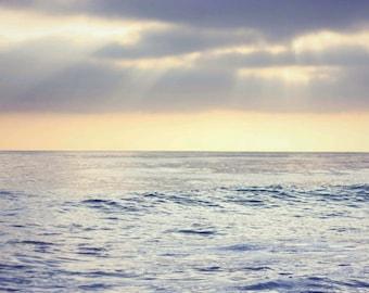 Calm - 8x10 Fine Art Photograph, Pacific Ocean, Nature, Landscape California Sunset, Beach Photography