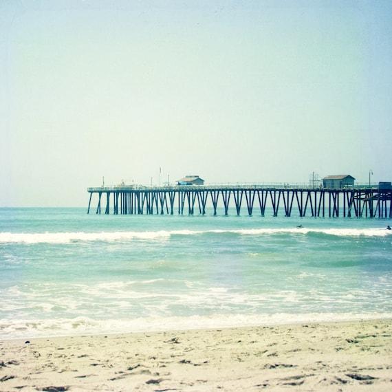 Boardwalk - 8x8 Fine Art Photograph, Orange County, Southern California, Vacation, Travel Photography