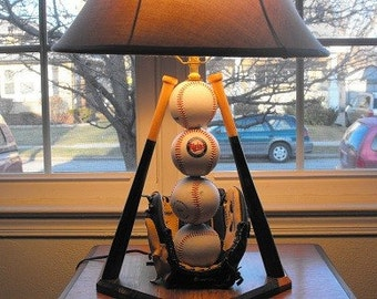 Baseball table lamp, Minnesota twins theme for those die hard fans.