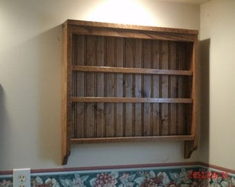 Spice Rack/ Kitchen shelf rich dark oak