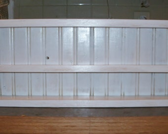 Spice Rack Shabby Chic White