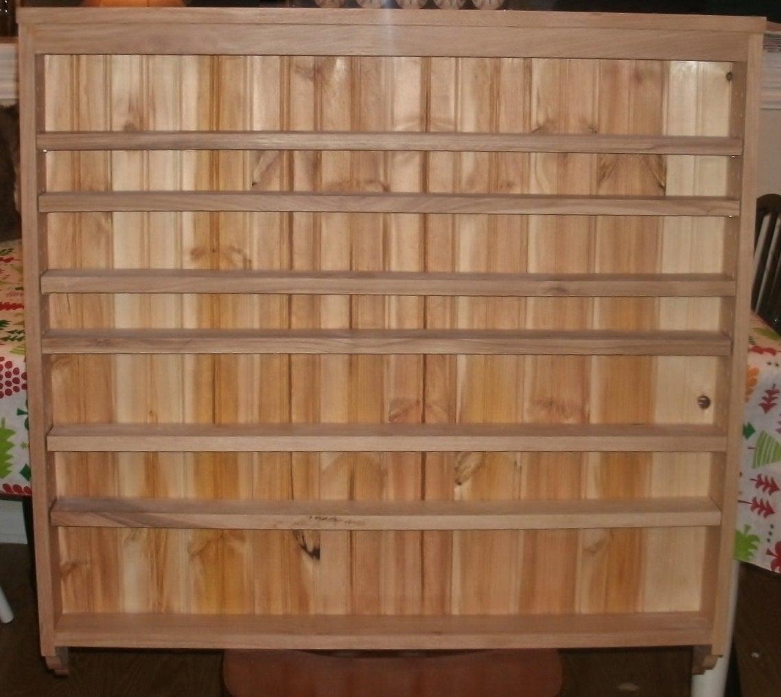 Spice rack kitchen shelf hickory kitchen large - Kitchen cabinet shelving racks ...