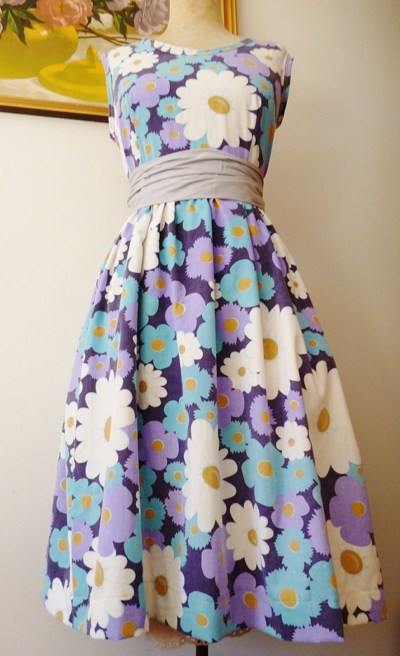 Vintage Inspired Tea Dress - READY to SHIP - size 12 Australian