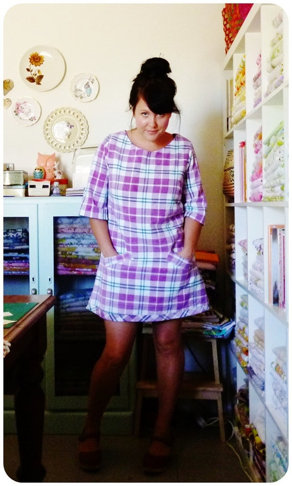 3/4 sleeve A-line shift dress - made to order in a fabric of your choice