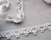 """Vintage french lace (54"""" long) edging trim"""