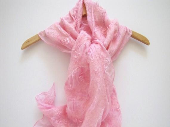 Think Pink Silk Scarf Shawl Wrap