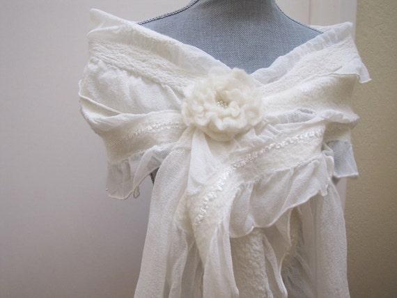 RESERVED LISTING for Lucie - Ivory Shawl Wrap Shrug Bolero - Bridal Accessories