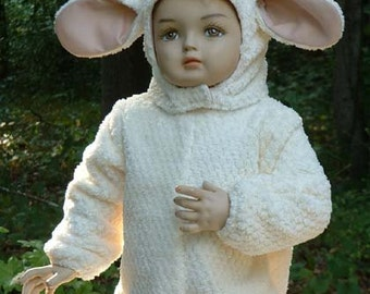 F059   Cuddly  Fleece Lamb Halloween Costume Toddler 4