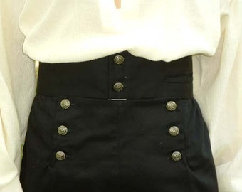 C 117   Men's Renaissance Pirate High Waisted Breeches Knickers Adult Sizes