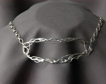 Sterling Silver Lacy Choker