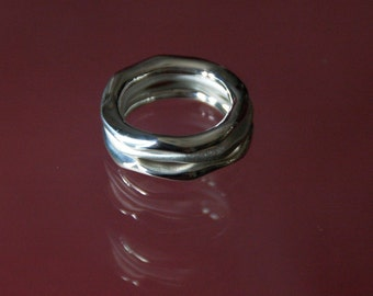 Sterling Silver Round Carved Rings