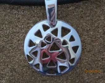 Sterling Silver Disk Pendant