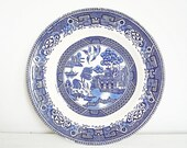 1950s Blue Old Willow dinner plate by Washington