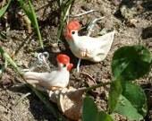Brown Hen Earrings