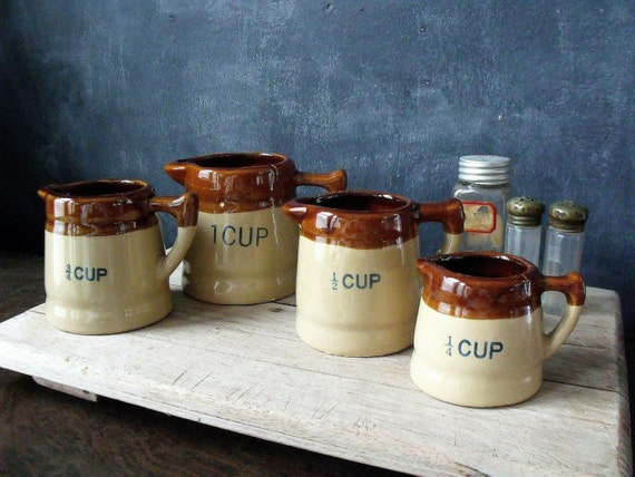 4 Vintage Measuring Cups/Pitchers