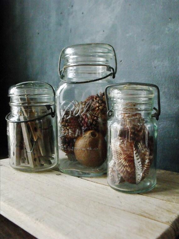 3 Vintage Bale Jars