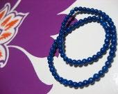 Seeds in Lapis. Lapis bracelet, Stretchy Bracelet, Gemstone Jewelry, Blue gemstone