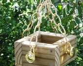 The Grotto - Mini Bird Feeder, Eco Friendly, Recycled, Vintage Materials