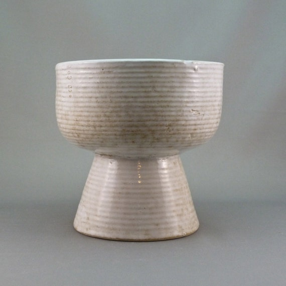 Zanesville Stoneage Modern chalice form architectural pottery planter RESERVED