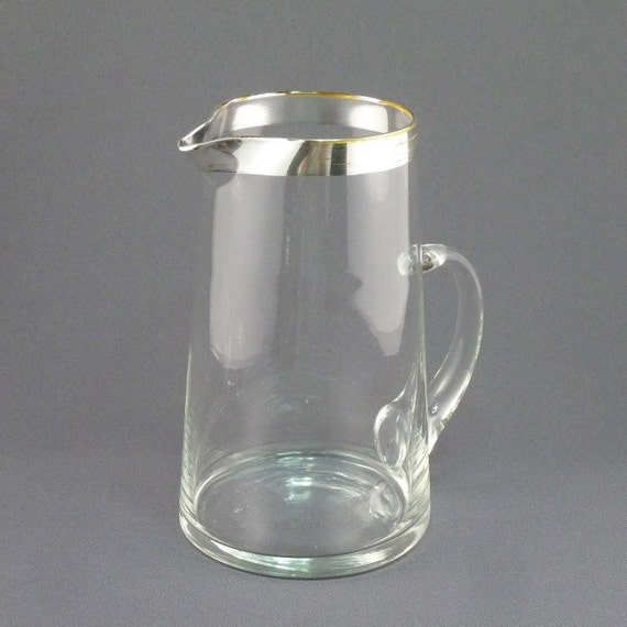 Dorothy Thorpe silver band cocktail / juice glass pitcher