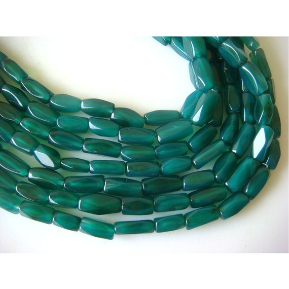 Wholesale Green Onyx/ Green Onyx Faceted Beads/ Nugget Beads - 10mm Each Approx - 5 Strands - 14 Inches Each
