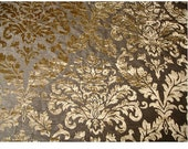 Light Gold Damask - Burnout Velvet on Fancy Fabric