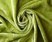 Lime Green Velvet Fabric Yardage Commercial Fabric Curtain Fabric Fashion Velvet Upholstery Fabric Decorative Fabric Window Treatment Fabric