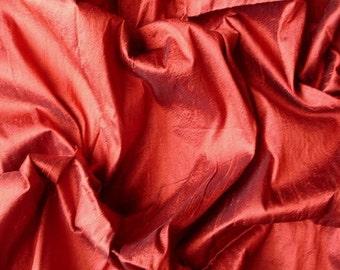 Dark Rust 100 Percent Pure Silk Dupioni Fabric Decorative Silk Fabric Wholesale Silk Fabric Raw Silk Fabric Indian Silk Fabric By The Yard
