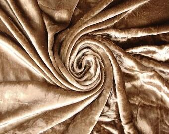 Light Brown Velvet Fabric Yardage Curtain Fabric Fashion Velvet Upholstery Fabric Decorative Fabric Window Treatment Fabric By The Yard