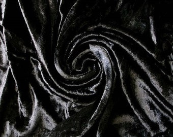 Black Velvet Fabric Yardage Commercial Fabric Curtain Fabric Fashion Velvet Upholstery Fabric Decorative Fabric Window Treatment Fabric