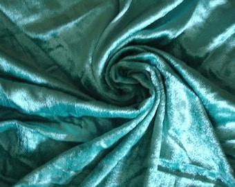 Turquoise Velvet Fabric Yardage Fabric Curtain Fabric Fashion Velvet Upholstery Fabric Decorative Fabric Window Treatment Fabric By The Yard