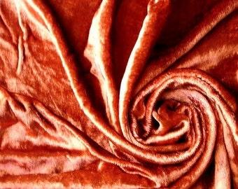 Rust Velvet Fabric Yardage Fabric Curtain Fabric Fashion Velvet Upholstery Fabric Decorative Fabric Window Treatment Fabric By The Yard