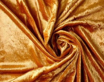 Dark Gold Velvet Fabric Yardage Fabric Curtain Fabric Fashion Velvet Upholstery Fabric Decorative Fabric Window Treatment Fabric By The Yard